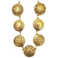 Chanel Vintage '90s Gold Medallion Necklace