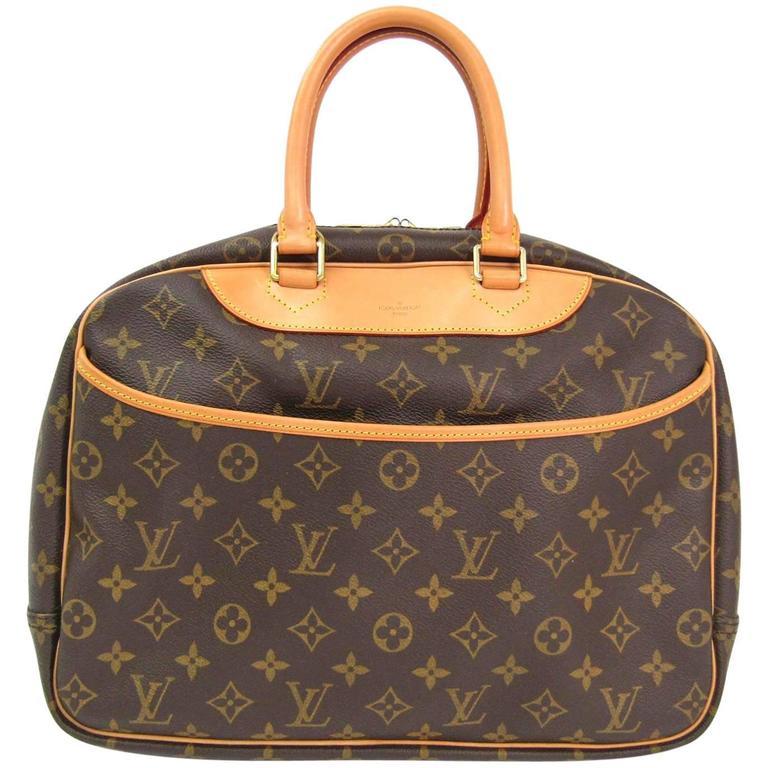 b0d29389099a Louis Vuitton Monogram Men s Women s Carryall Travel Top Handle Satchel Bag  For Sale