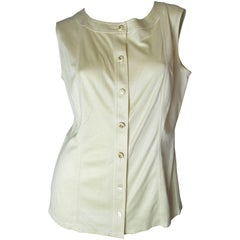 Chanel Boutique Silk Sleeveless Top