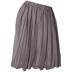 Issey Miyake Cotton Pleated Skirt
