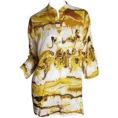 Jean Paul Gaultier Paint Print Cotton Tunic