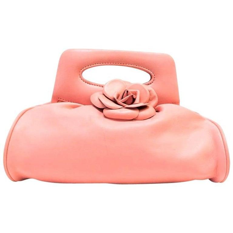 Chanel Vintage Pink Camellia Flower Bag