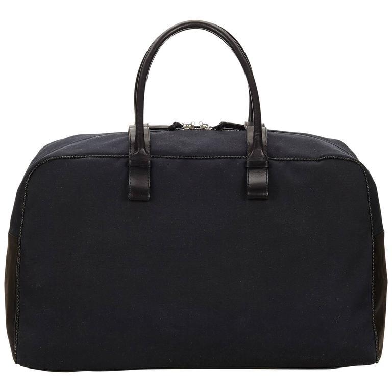 3abae2774d35 Bottega Veneta Black Canvas Duffel Bag For Sale at 1stdibs