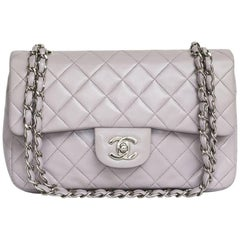CHANEL 'Timeless' Double Flap Bag in Parme Color Lamb Leather
