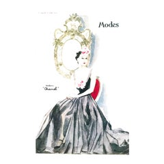 Chanel Vintage 1930's Ad Print - Seated Woman in Gown