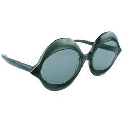 Pierre Cardin Vintage Iconic Kiss Black Sunglasses