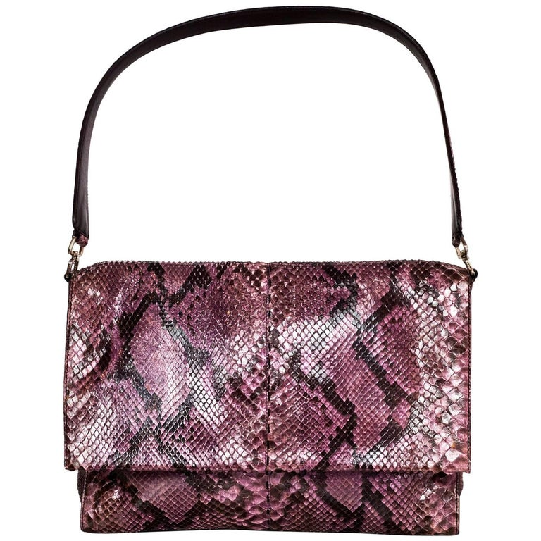 Prada Purple Python Shoulder Bag with Dust Bag