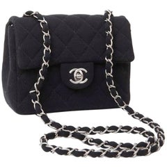 Mini CHANEL Bag in Black Jersey