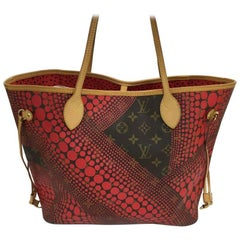 Louis Vuitton Neverfull Tote Limited Edition Monogram Canvas Kusama Waves MM