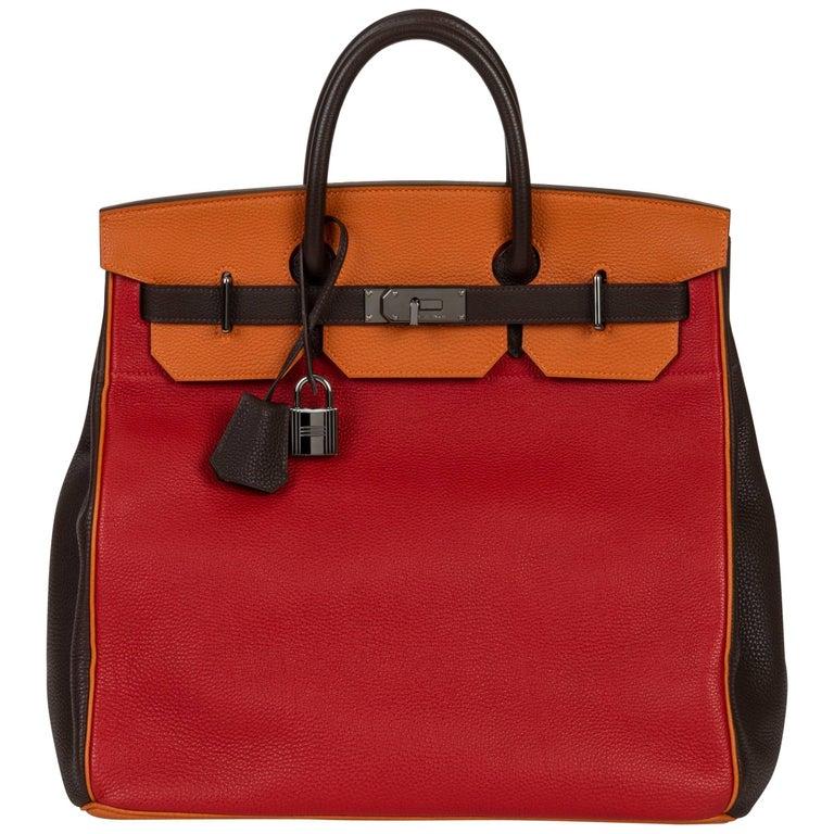 Hermès Custom Order Tricolor Birkin Hac 40 Bag