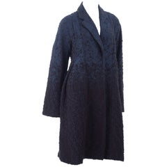 Vintage 90s LA PERLA Coat in Navy and Black
