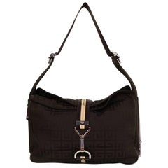 Givenchy Brown Monogram Nylon Shoulder Bag