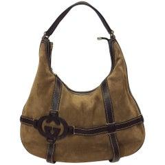 Gucci Brown Suede Royal Hobo Bag