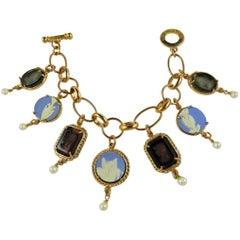 Italian bronze charm bracelet by Patrizia Daliana
