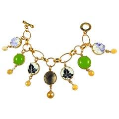 Bronze charm bracelet by Patrizia Daliana