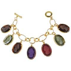 bronze and engraved Murano glass charm bracelet by Patrizia Daliana