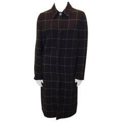 Ralph Lauren Brown Plaid Cashmere Coat Skirt Set
