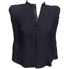 Nina Ricci Navy Multi Beaded Blazer Sz 38