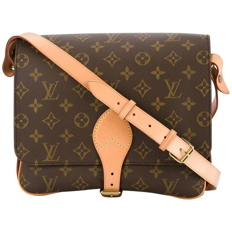 Louis Vuitton Monogram Crossbody Messenger Style Belt Flap Shoulder Bag