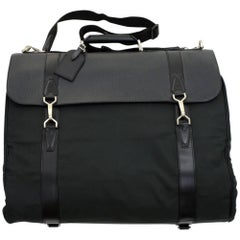 Louis Vuitton Portable Gibeciere Green Ardoise Taiga Leather Garment Travel Bag