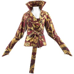 Vivienne Westwood Autumn-Winter 2002 brocade bondage evening jacket
