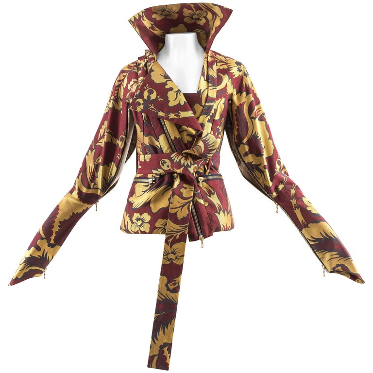 Vivienne Westwood Autumn-Winter 2002 brocade bondage evening jacket  For Sale