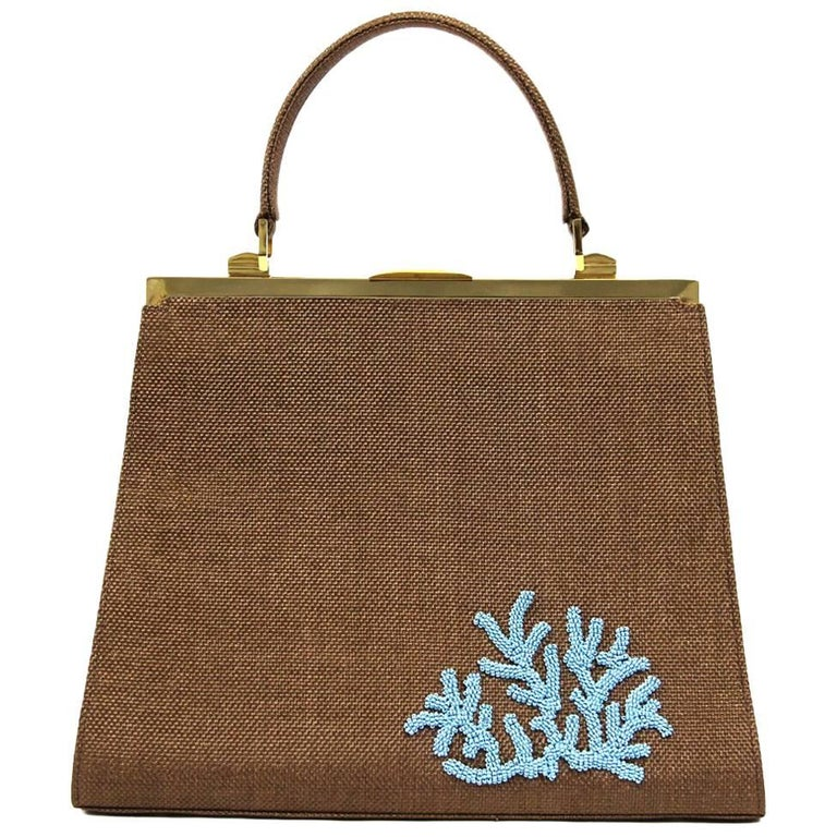 2000s Dotti Brown Raffia Bag