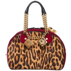 John Galliano Christian Dior Leopard Velvet Gambler Handbag, Fall 2004
