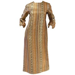 Metallic Gold and Copper Party Dress, 1970s
