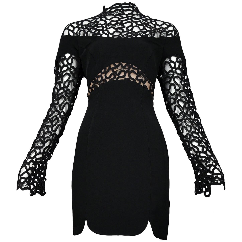 Long Sleeve Mini Cocktail Dress