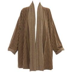 Issey Miyake Plantation Reversible Striped Woven Cotton Jacket, Circa 1980's