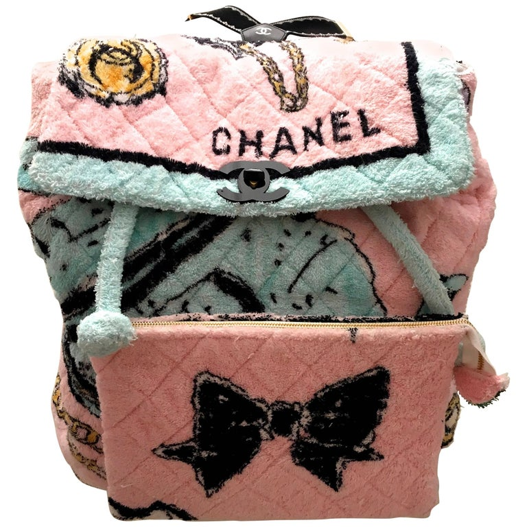 Rare Chanel Terry Cloth XL Backpack - 1994 - Mint Condition 1