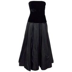 Ralph Lauren Black Strapless Gown Size 8