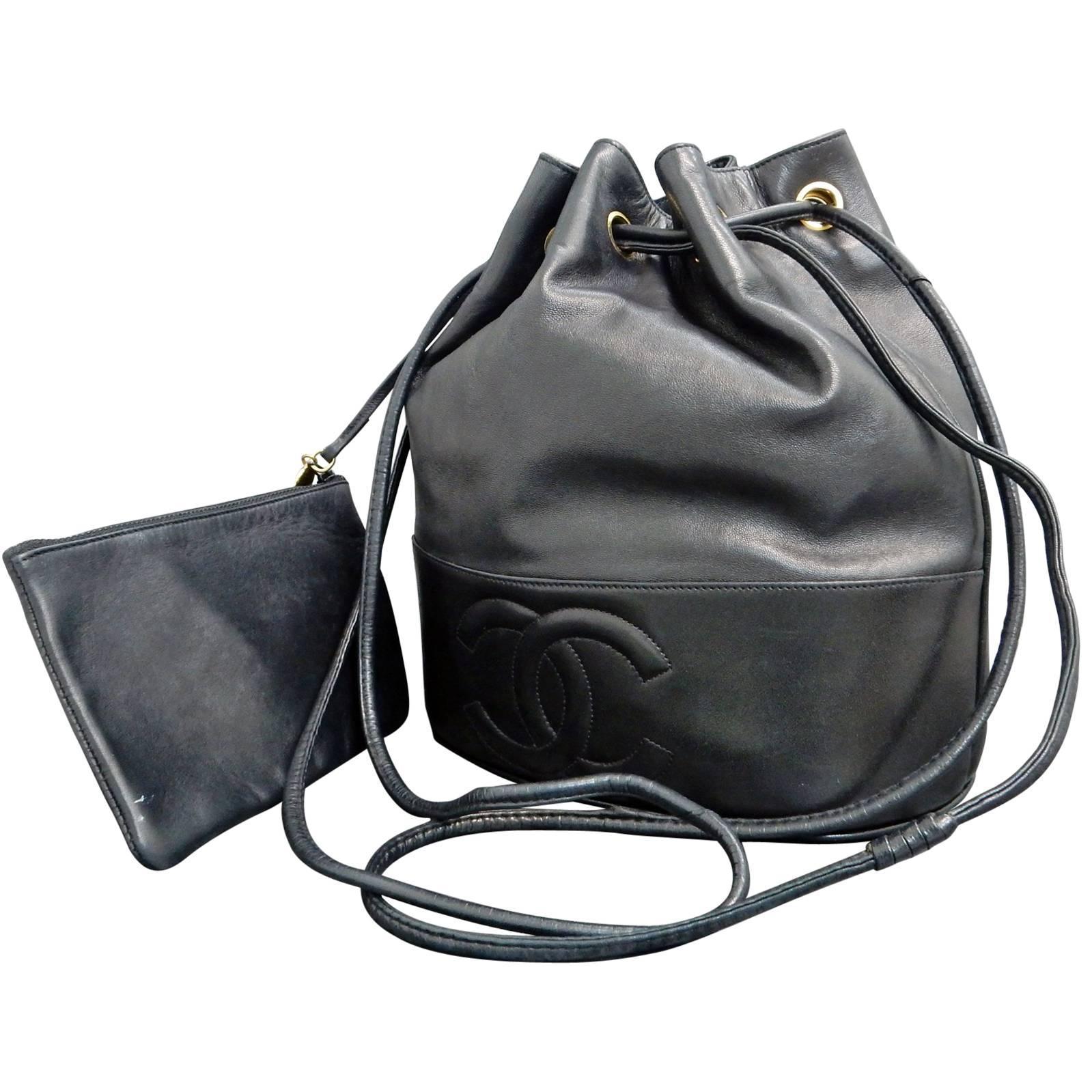 619430e9fa144c Chanel Black Lambskin Leather