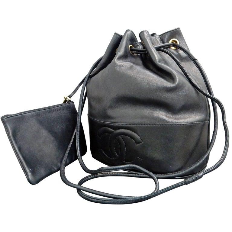 d649c04b233f Chanel Black Lambskin Leather