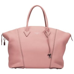 2014 Louis Vuitton Magnolia Veau Cachemire Leather Soft Lockit MM