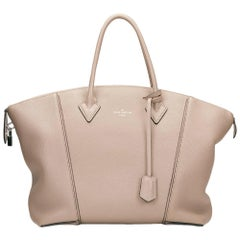 2014 Louis Vuitton Taupe Veau Cachemire Leather Soft Lockit MM