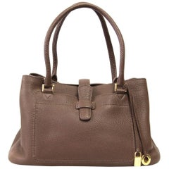 2000s Loro Piana Brown Leather Bag