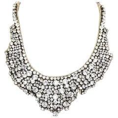 Valentino Crystal Encrusted Collar Bib Necklace rt. $795