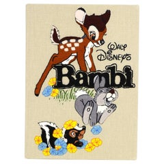 Olympia Le-Tan NEW Bambi Embroidered Cotton-Canvas Clutch