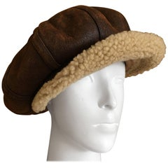 Christian Dior by John Galliano Shearling Newsboy Cap