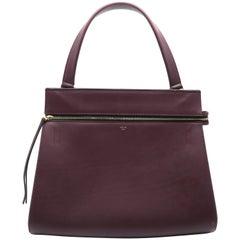 Celine Edge Wine Red Calfskin Leather Shoulder Bag