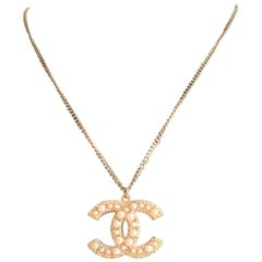 Chanel Necklace with CC logo pendant 100th Anniversary, Limited Editions