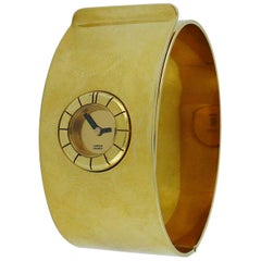 Lanvin Vintage 1970s Gold Toned Bracelet de Force Watch