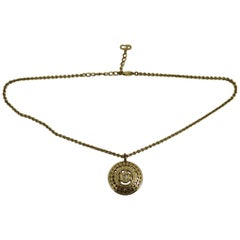 Christian Dior Vintage Gold Plated Necklace