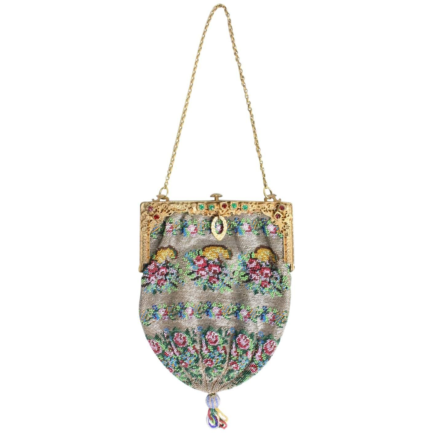 1stdibs Italian Needlework Bag Gold Washed Sterling Silver With Citrines And Pearls kBI5uZX