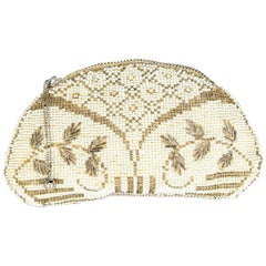 Czechoslovakian Oval Beaded Evening Bag