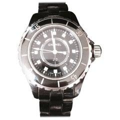 Chanel J12 Black Ceramic Automatic Watch H1626 (Lower Price $4875)