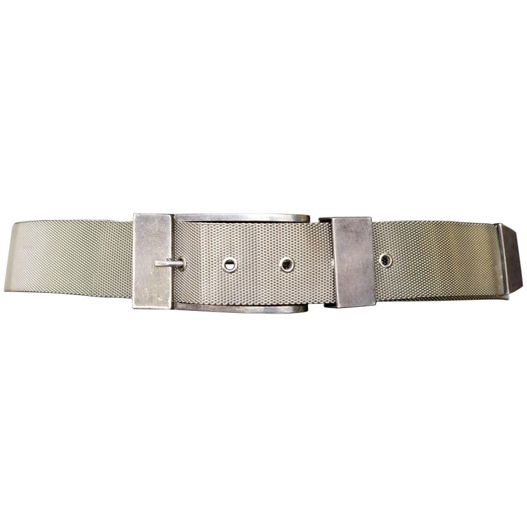Pat Areias Sterling Woven Sterling Silver Belt