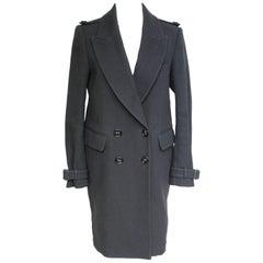 Burberry Prorsum Black Double breasted Oversized Tuxedo Coat 42 UK 10